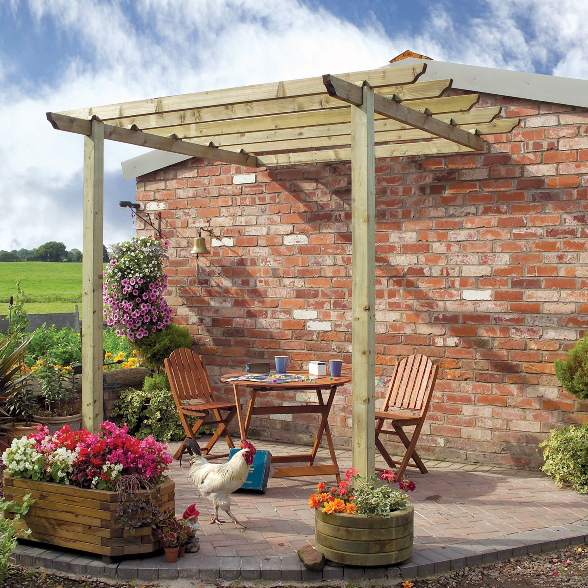 Grange Traditional Natural Patio Pergola