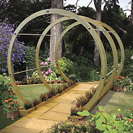 Grange Flower Walk Sage Green Wooden Pergola