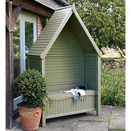 Livorno Wooden Sage Green Arbour