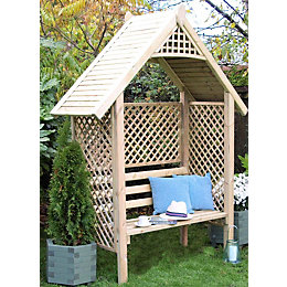 Valencia Wooden Lattice Arbour