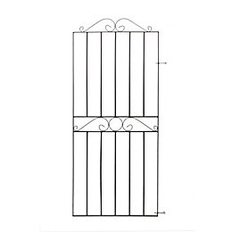 Blooma Metal Swirl Top Gate (H)1.8 M (W)0.81