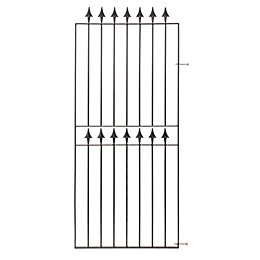 Blooma Metal Spear Top Gate (H)1.83m (W)0.77m