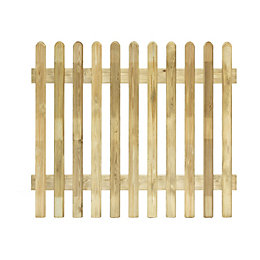 Profiled Round Top Picket Fence (W)1.8m (H)1m, Pack