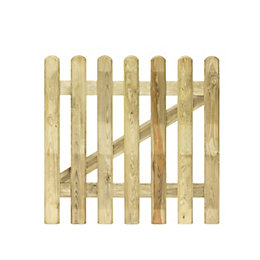 Grange Fencing Wood Picket Gate (H)100cm (W)100cm