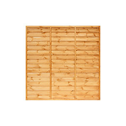 Primo Overlap Fence Panel (W)1.83m (H)1.8m, Pack of