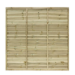 Primo Overlap Fence Panel (W)1.83m (H)1.5m, Pack of