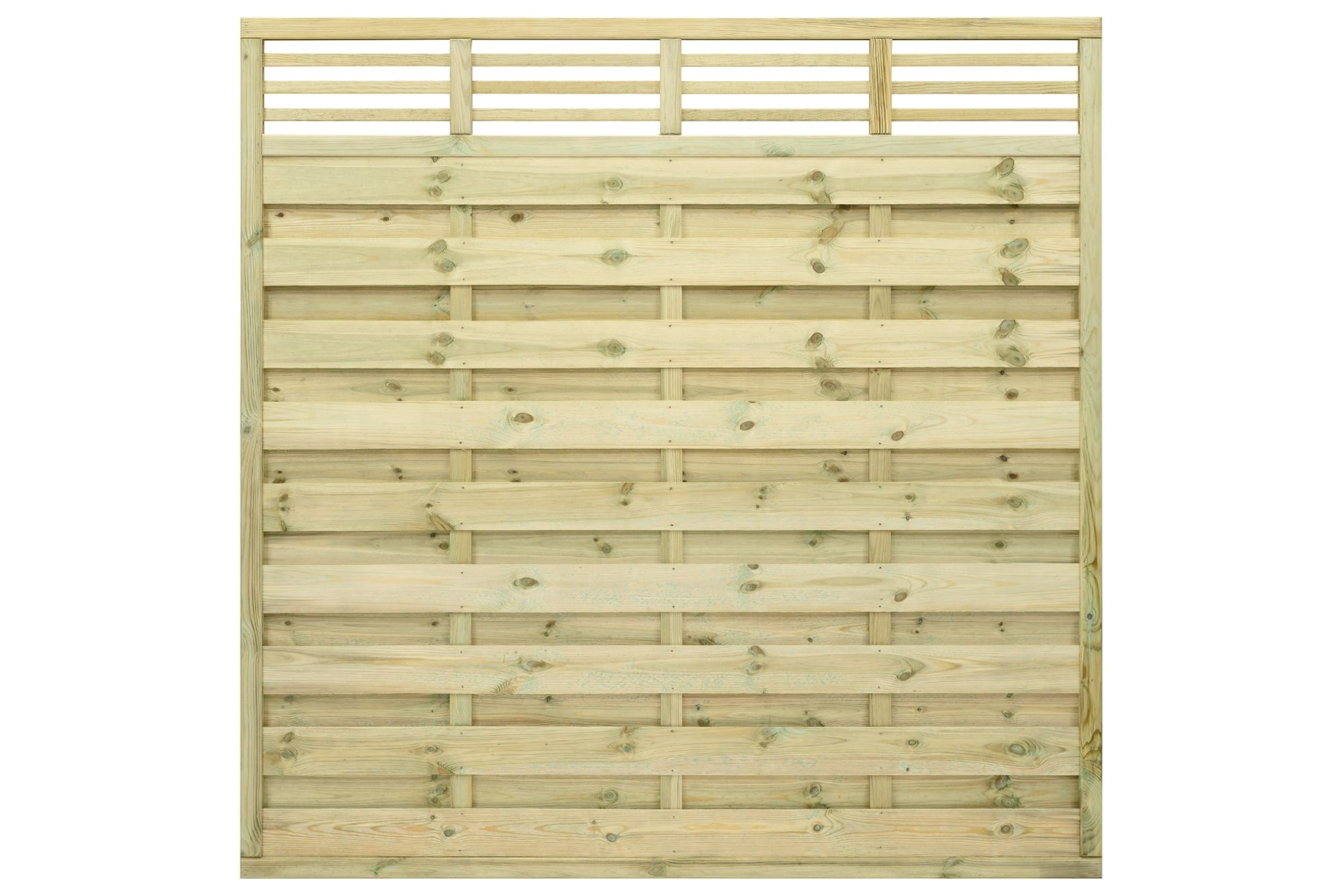 Grange Lille Decorative Horizontal Trellis Fence Panel (w)1.8 M (h)1.8m, Pack Of 4