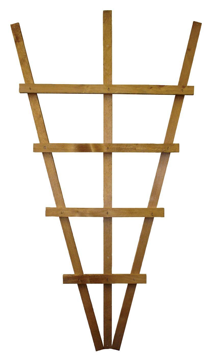 Timber Fan Trellis Panel (h)1.1m(w)0.61 M