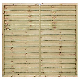 Pro Lap Fence Panel (W)1.83m (H)1.8m, Pack of