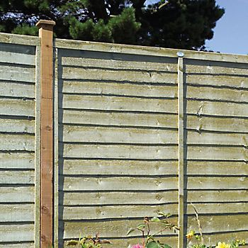 Grange Pro Lap Wooden Fence Panel 1.83 x 1.8m in garden