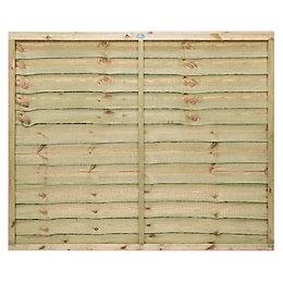 Grange Pro Lap Fence Panel (W)1.83m (H)1.5m, Pack