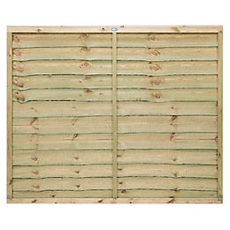 Pro Lap Fence Panel (W)1.83m (H)1.5m, Pack of