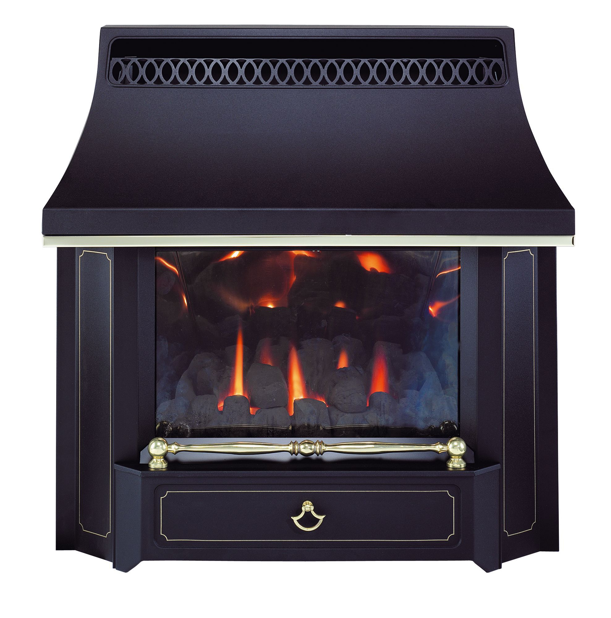 valor black beauty black manual control wall hung gas fire