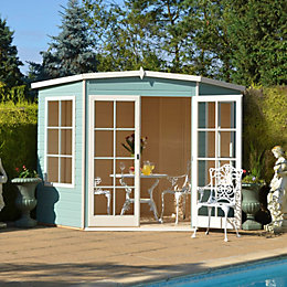 7X7 Hampton Shiplap Timber Summerhouse with Toughened Glass