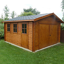 14X15 Bradenham Timber Garage with Felt Roof Tiles