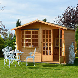10X8 Sandringham Shiplap Timber Summerhouse with Felt Roof