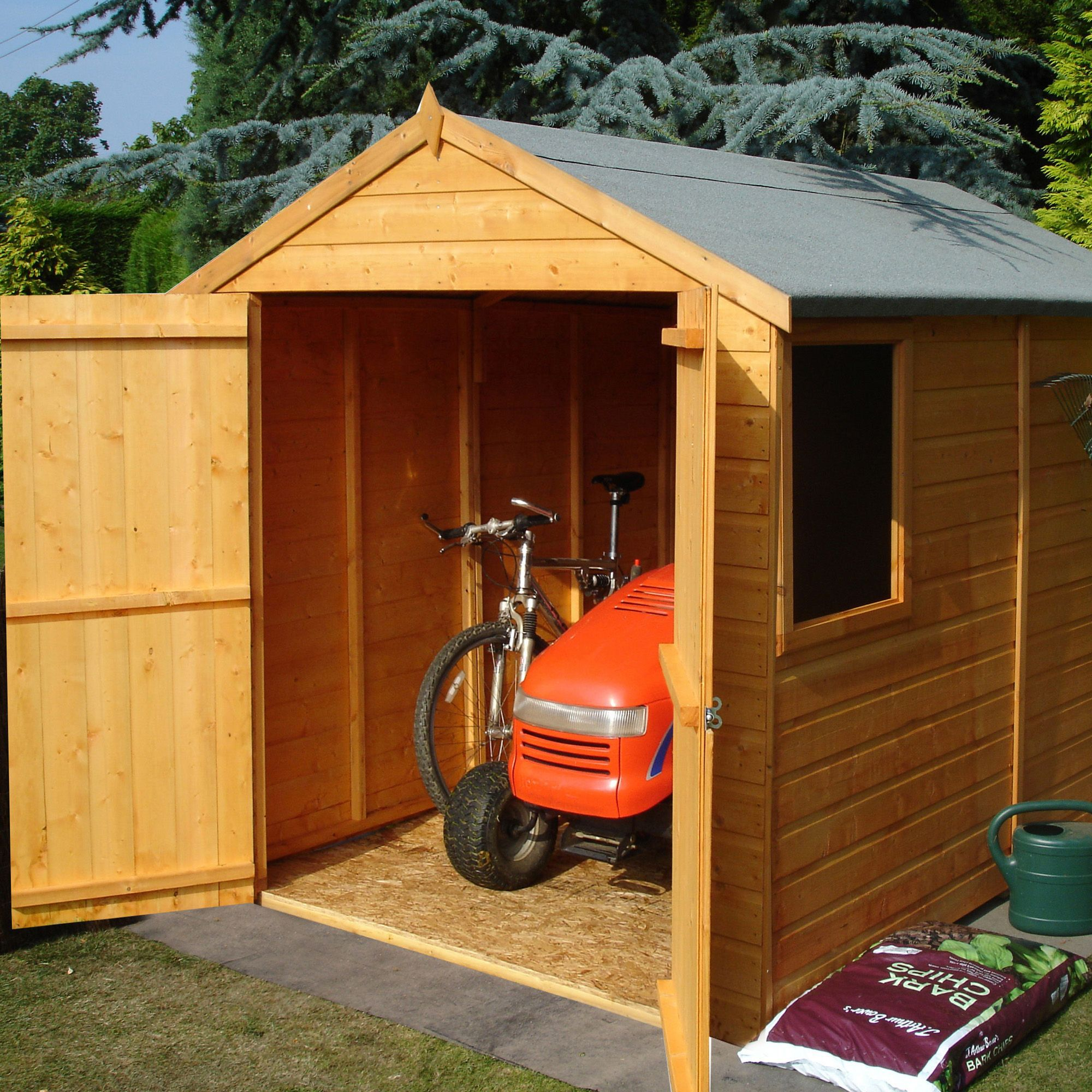 8x6 Warwick Apex Shiplap Wooden Shed With Assembly Service