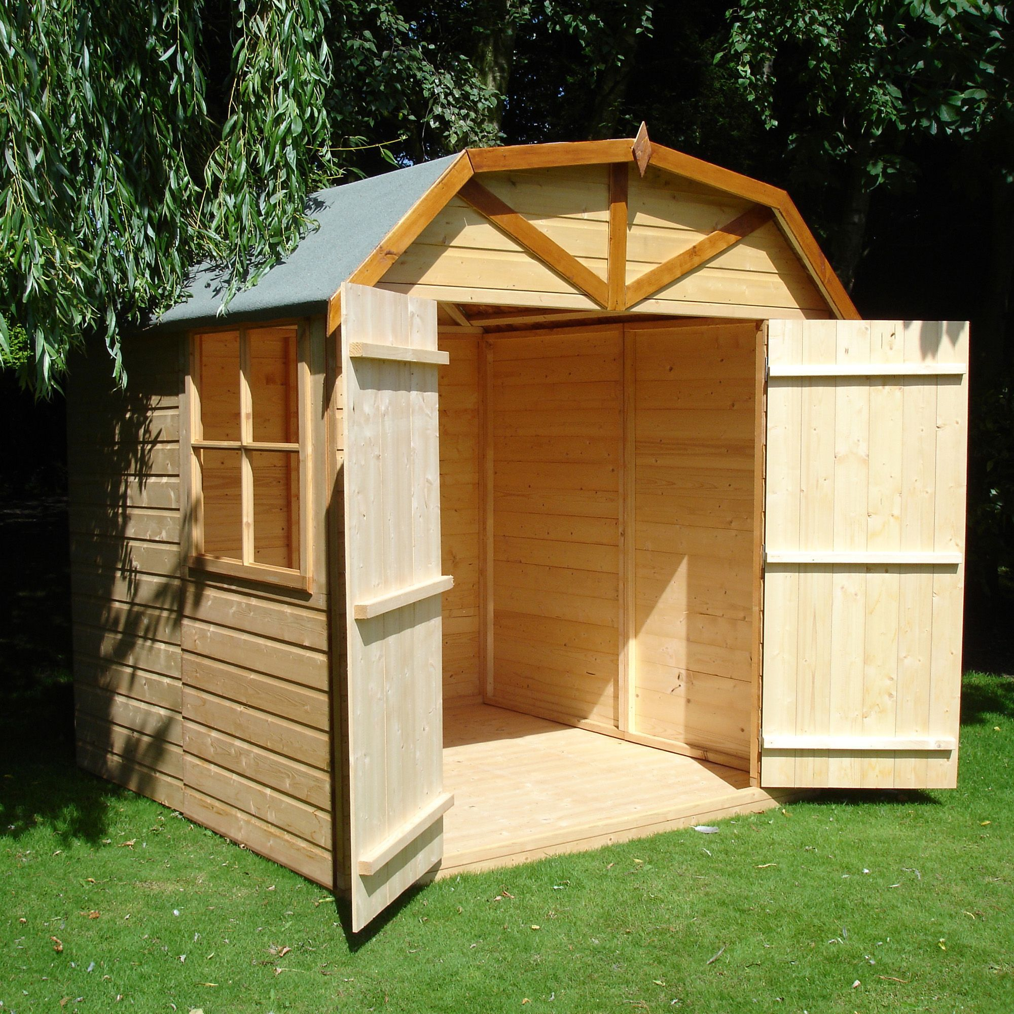 7x7 Double Door Dutch Apex Shiplap Wooden Shed With Assembly Service