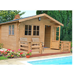 14X18 Kinver 34mm Tongue & Groove Timber Log