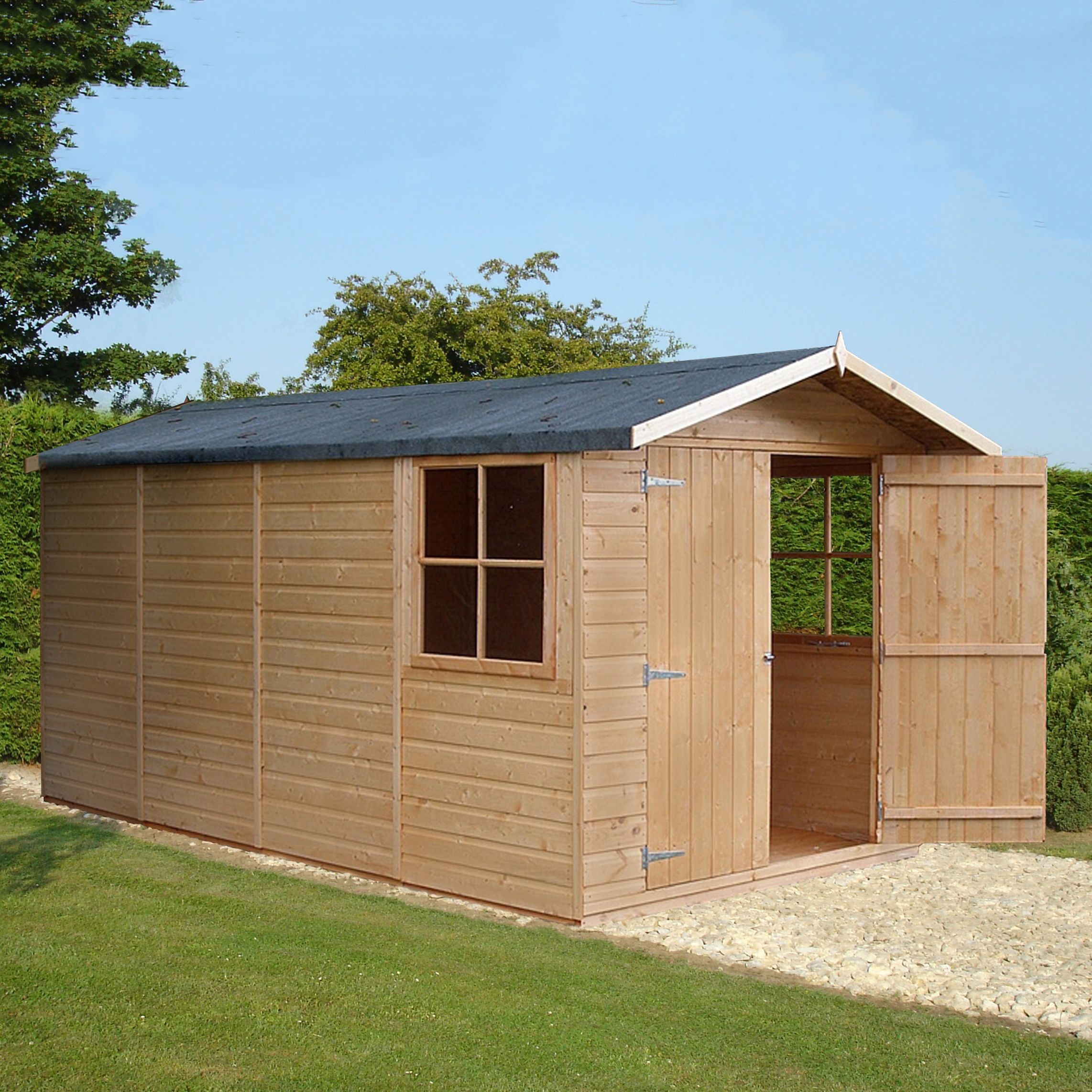 13x7 Jersey Apex Shiplap Wooden Shed Departments
