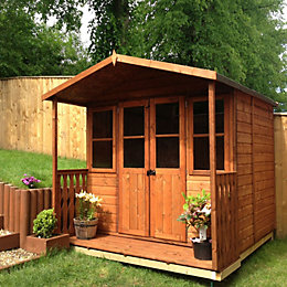 7X5 Houghton Shiplap Timber Summerhouse with Assembly Service