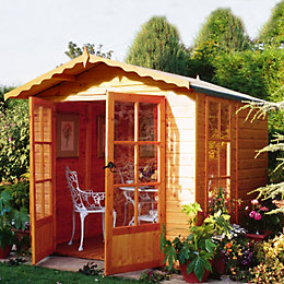 7X7 Buckingham Shiplap Timber Summerhouse