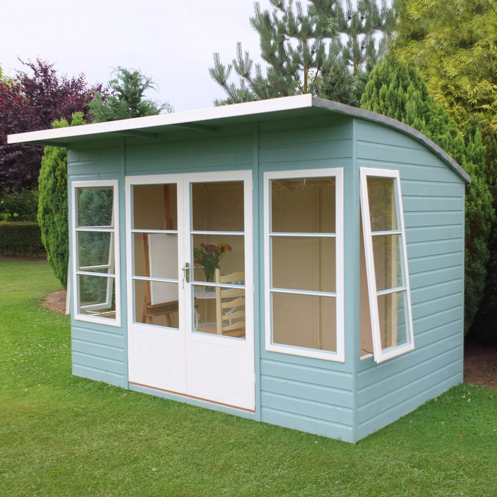 10x6 Orchid Curved Roof Shiplap Wooden Summerhouse