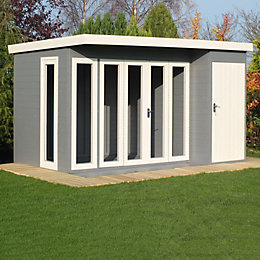 12X8 Aster Shiplap Timber Summerhouse with Assembly Service