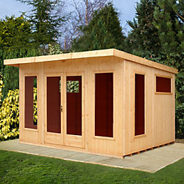 12X10 Miami Gym Shiplap Timber Summerhouse with Assembly
