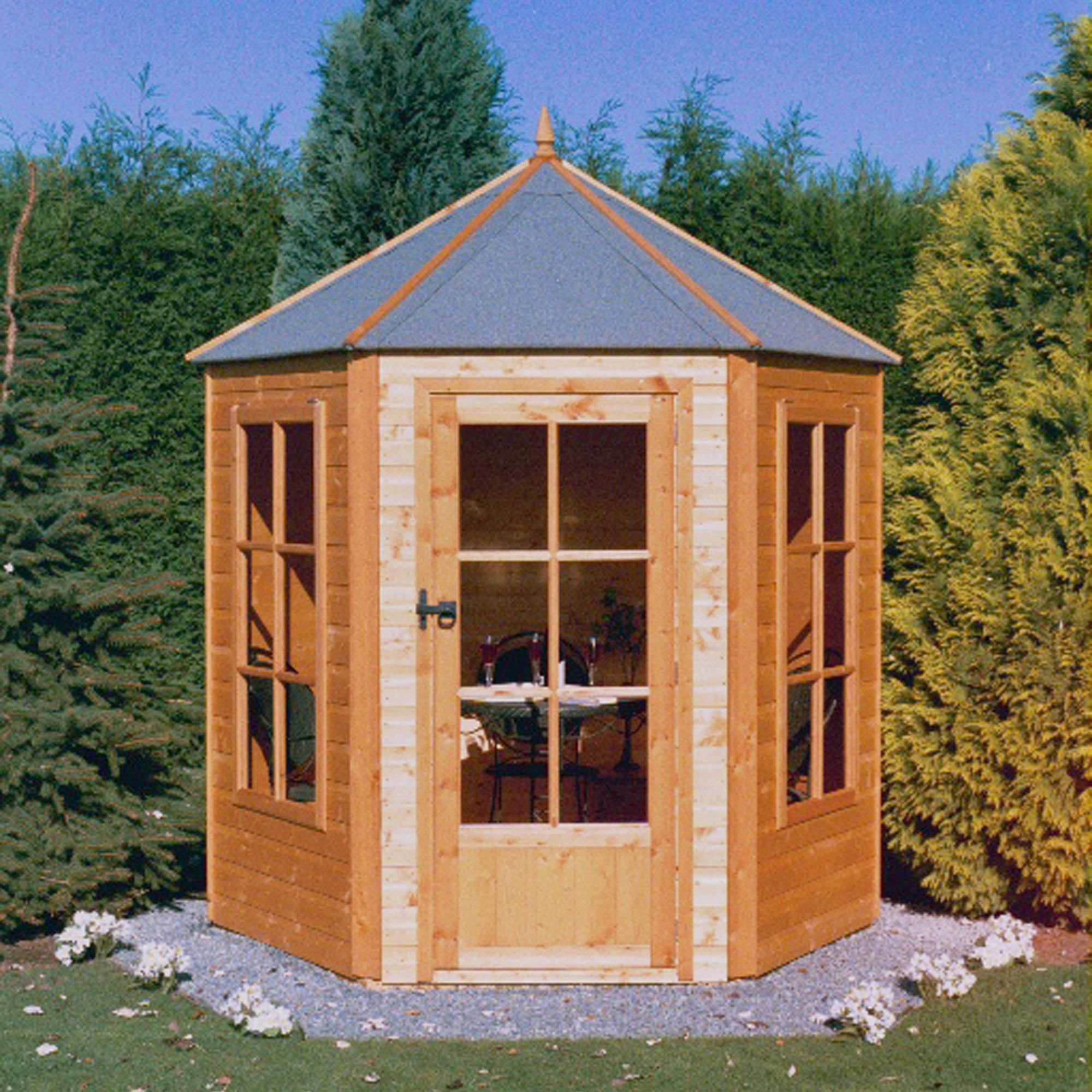 7x7 Gazebo Shiplap Timber Summerhouse With Assembly