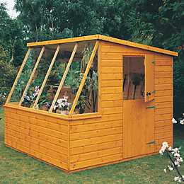 8X8 Iceni Pent Shiplap Wooden Shed with Assembly