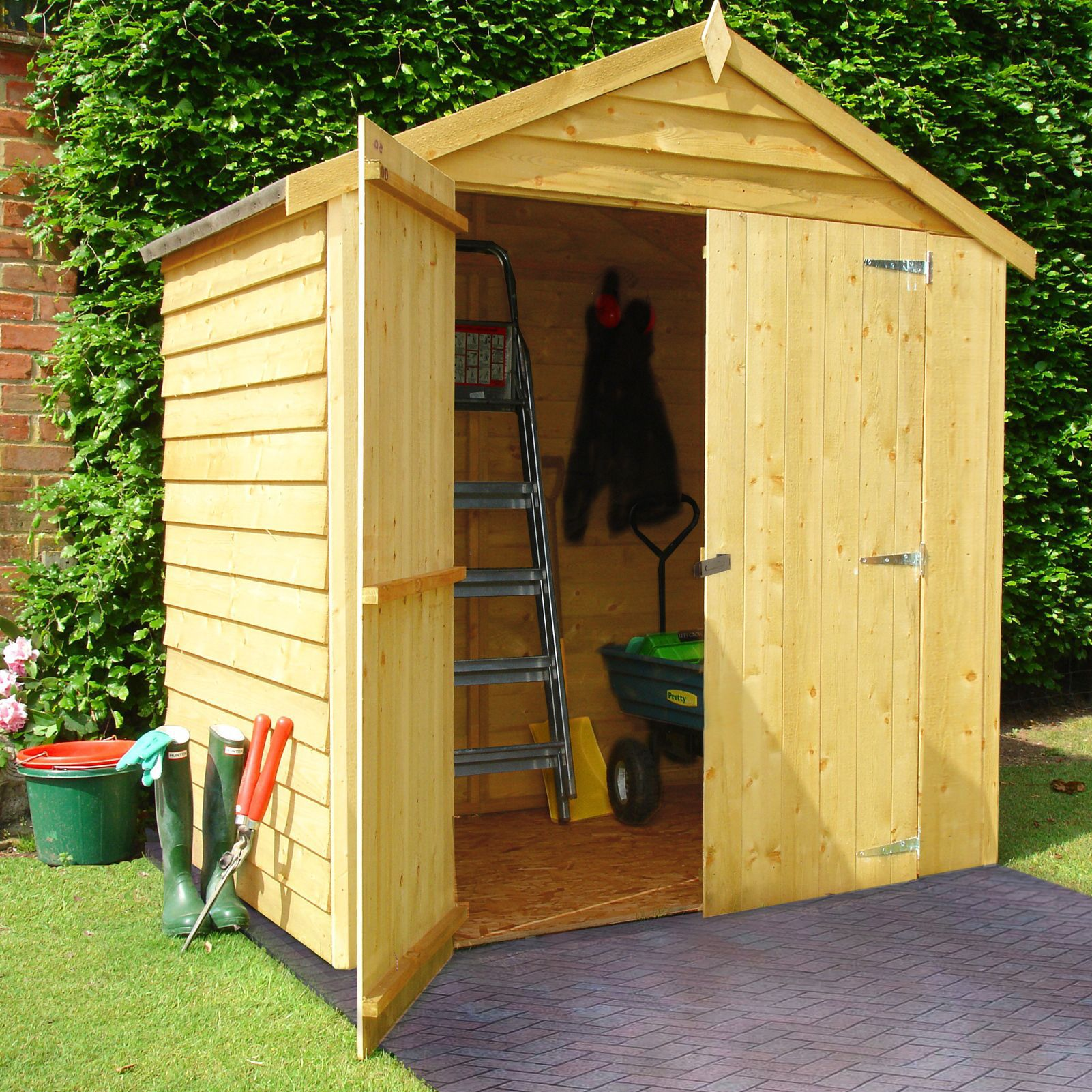 6X4 Apex Overlap Wooden Shed | Departments | DIY at B&Q