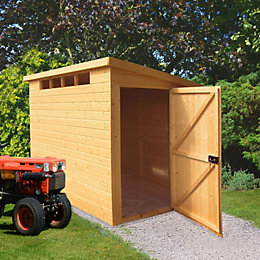 8X6 Security Cabin Pent Shiplap Wooden Shed with