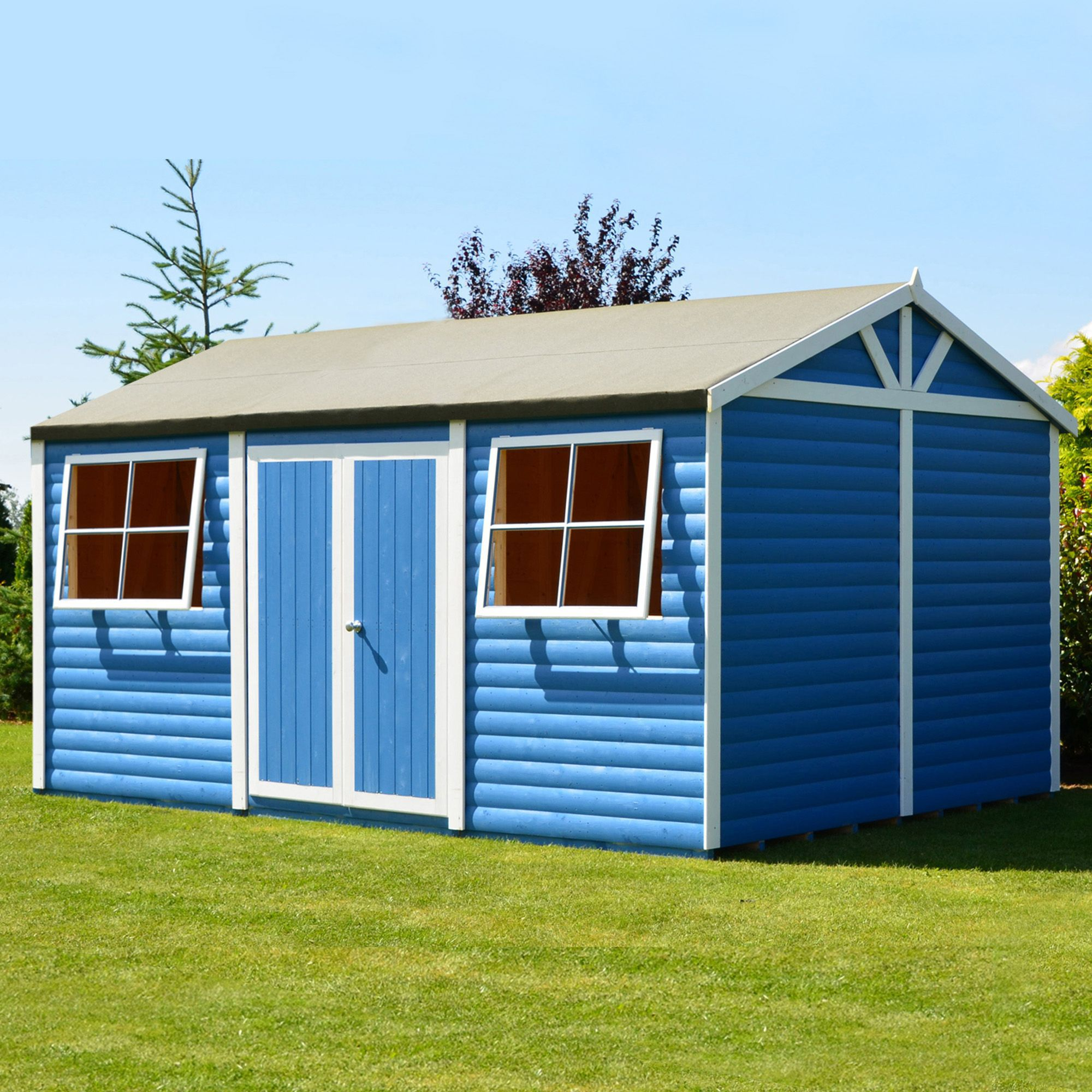 15x10 mammoth loglap timber shed with assembly service. Black Bedroom Furniture Sets. Home Design Ideas