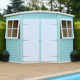 7X7 Murrow Pent Shiplap Wooden Shed with Assembly