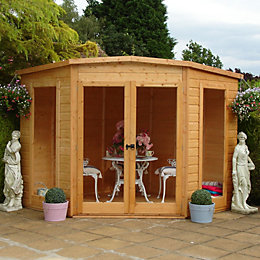 7X7 Barclay Shiplap Timber Summerhouse with Assembly Service