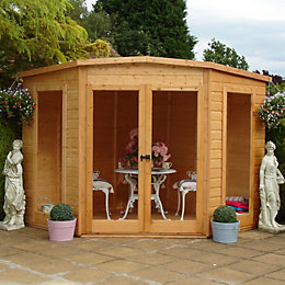 8X8 Barclay Shiplap Timber Summerhouse with Assembly Service