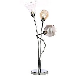 Lilie Chrome Effect Table Lamp
