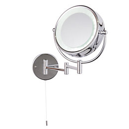 Jenolan Illuminated Bathroom Circular Extendable Mirror (W)190mm