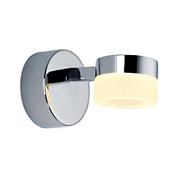 Meroo Chrome Effect LED Bathroom Wall Light