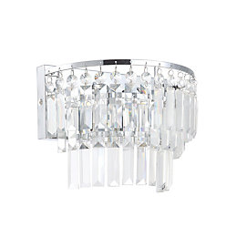 Bargo Clear Chrome Effect Bathroom Wall Light