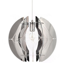 Spiro Chrome Effect Pendant Ceiling Light