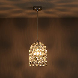 Elize Chrome Effect Pendant Ceiling Light