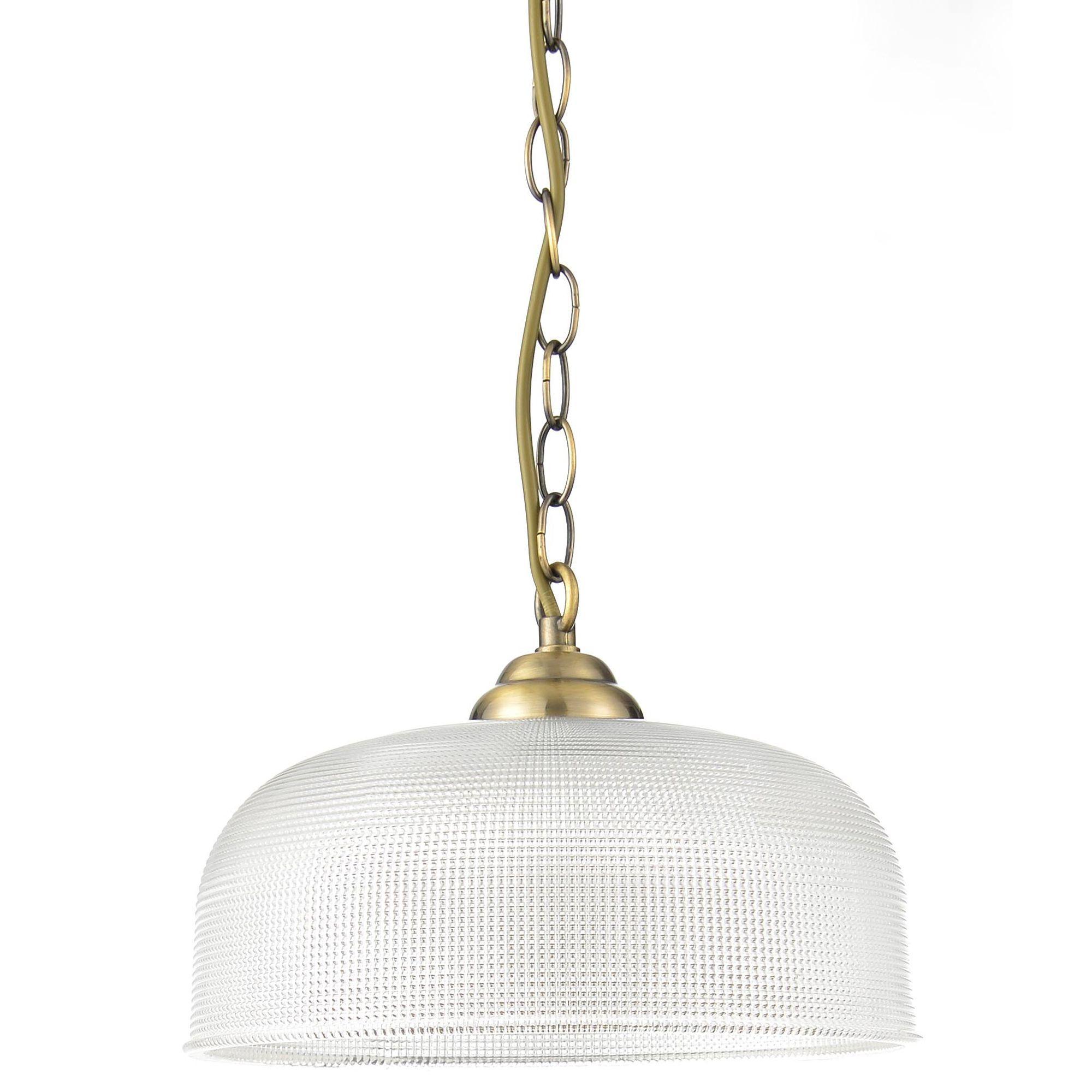 Ola antique brass effect 3 lamp pendant ceiling light for Homemade ceiling lamp