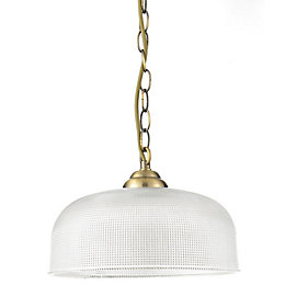 Ola Antique Brass Effect 3 Lamp Pendant Ceiling