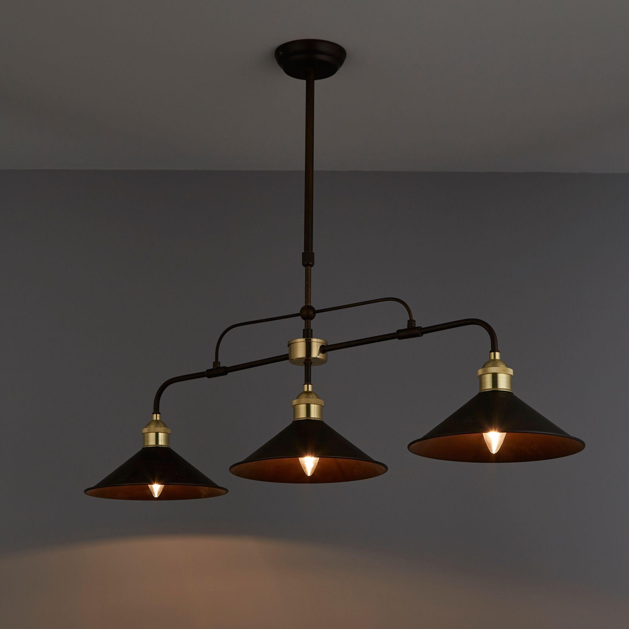 alfie bronze effect  lamp pendant ceiling light departments diy  bq