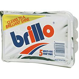 Brillo Metal Scourer Pad, Pack of 5