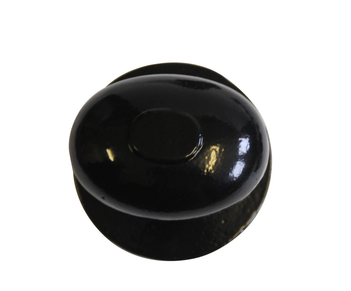 Premier Polished Iron Effect External Oval Latch Door Knob, 1