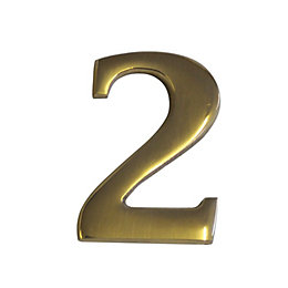 Brass Effect Metal 60mm House Number 2