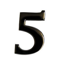 Nickel Effect Metal 60mm House Number 5